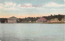 1910 Merry Go Round on Shore Hoag Lake Woonsocket RI post card