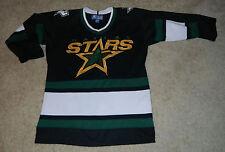 Youth Vtg. STARTER AUTHENTIC Dallas Stars SEWN/STITCHED Hockey Jersey, Sz. S/M
