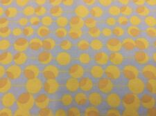 """AMY BUTLER-MIDWEST MODERN 2 """"MARTINI"""" LIME GREEN W/ BROWN DOTS ON BLUE FABRIC"""