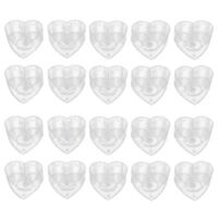 20pcs Clear Plastic Tealight Cups 40x12mm Love Heart DIY Candle Making Molds