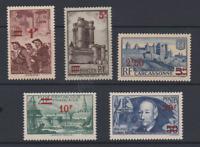 FRANCE YT 489 490 491 492 493 N** MNH C=90€ LES 5 GF DE LA SERIE SURCH 1941 ADER