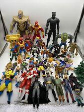Vtg Mixed Lot Of Superheroes Action Figure Lot DC Comics, TMNT, Power Rangers