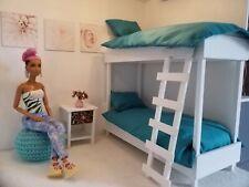 Handmade Bambola Set di biancheria da letto Size per letti a castello Twin Set per Bambole Barbie