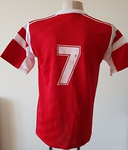 Adidas vintage football shirt size 10 made in England Player Issue #7