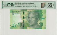Nelson Mandela South Africa 10 Rand Banknote PMG Gem UNC 65 EPQ 2013 138a