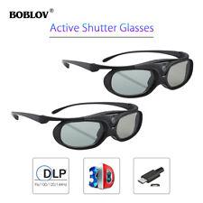 2x JX-30 Active Shutter 3D Glasses For DLP-LINK Projectors Acer BenQ Optoma Dell