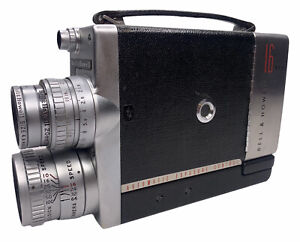 VTG Bell & Howell AE 200EE 16mm Movie Camera 20mm 1.9 Super Comat Lens Auto Expo