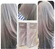 2 Pcs GENUINE Berina Light Ash Blonde color A38 Permanent Hair Dye Color Cream+