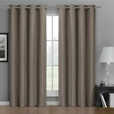 Simple Gulfport Faux Linen Blackout Weave Curtains With Grommets (Single Panel)