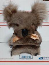 "Vintage Koala Bear Stuffed Animal 11"" With Real Kangaroo Fur"