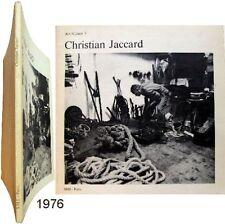 Christian Jaccard travaux correspondance Germain Viatte 1976 Art/Cahier 3