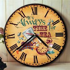 Alice in Wonderland Mad Hatter Time For Tea Hanging Wall Clock Gift NRC04