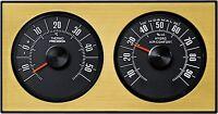 Analoge Wetterstation Thermometer Hygrometer 1972 Gold RICHTER / HR Art. 47035