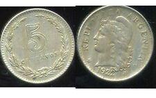 ARGENTINE  5  centavos 1922