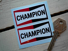 "CHAMPION Classic Bike STICKERS 2.5""Pair Scooter Motorcycle Trials Car Race Rally"