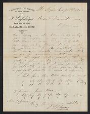 """SAINT-NAZAIRE (44) USINE de GANTS / MODE """"J. LAFABREGUE"""" en 1895"""
