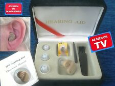 NEW SEEN ON TV etc MICRO MINI Sound Amplifier Tiny Aid for Louder Clear Hearing