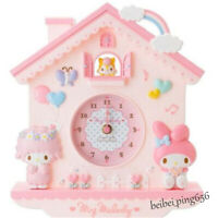 Sanrio My Melody Girls Kids Romm Home Living Room Decorative Wall Clock Decor