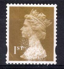 GB = QE2 era, Gold 1st NVI FORGERY. Print disturbance all over stamp. (d)
