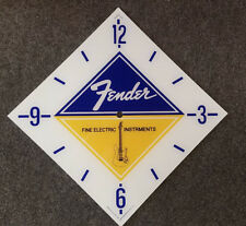 "*NEW* 15"" DIAMOND FENDER GUITAR GLASS replacement clock FACE FOR PAM MAN CAVE"