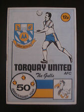 Torquay United v Cardiff City 1977/78 Official football Programme EX LEAGUE
