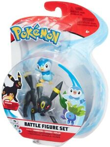 Pokemon Box 3 Figure Umbreon+Oddish+Piplup Original Wct Battle Figure Set