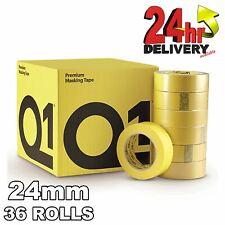 Q1 Premium Masking Tape 24mm x50m High Performance rubber-base 110�C Temperature
