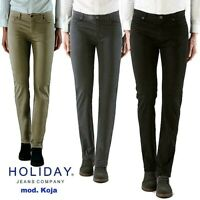 HOLIDAY JEANS pantaloni uomo cotone elasticizzato stretto regolare colorato koja