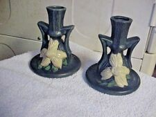 A PAIR OF ROSEVILLE CANDLE HOLDERS SIGNED  # 1159-412