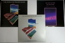 WORLD OF PRIVATE MUSIC VINYL LP LOT + JERRY GOODMAN Future of Aviation New Age
