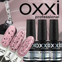 NEW! OXXI Professional TWIST TOP With TRENDY Black Flecks. For Gel Polish.
