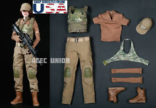 1/6 Female Combat Soldier Clothing Camouflage Set B For Phicen Hot Toys U.S.A