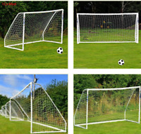 8 x 6ft PE Football Soccer Goal Post Net Sports For Outdoor Training Practice US