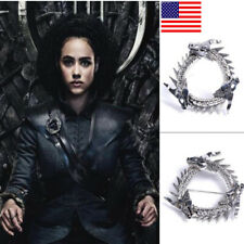 US! Game of Thrones Missandei Dragon Pin Grey Worm Cosplay Prop Brooch Jewelry