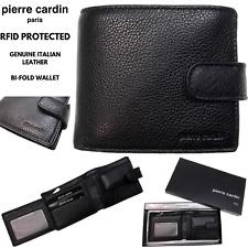 Pierre Cardin 3092440  Italian Leather Billfold Mens Wallet - Black