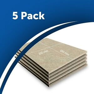 5x Beige Furniture Felt Pad Sheets 15x11cm Hardwood Flooring Protector 5mm thick