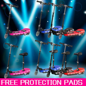 Kids 24V Battery Electric E Scooter Ride On Car Stand Escooter  Protection Pads