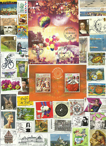 Western Europe 370 used stamps off paper ¡ALL DIFFERENTS! YEARS 2010-2015