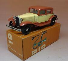 Rare rio alfa romeo 6c 1932 ref 1750 etat neuf + original box no. 1/43 repro