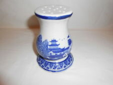 Antique Hat Pin Holder-Victoria Ironstone-Flow Blue Style-Pottery