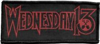 Official Licensed Merch Woven Sew-on PATCH Heavy Metal Rock WEDNESDAY 13 Logo