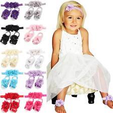 Baby Infant Kids Girl Summer Sandals Set Princess Soft Sole Crib Toddler Shoes