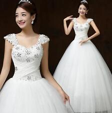Ivory Elegant Princess Wed Frocks Wedding Dresses Ball Gowns Bridal Dress