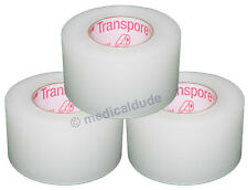 "3M 1527-1 Transpore Clear Surgical Tape 1"" x 10yd - 3 Rolls"
