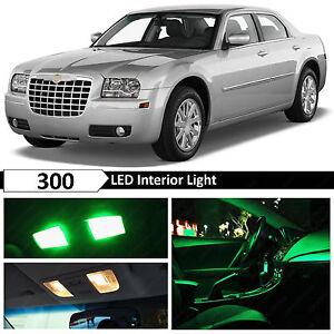 For 2005-2010 Chrysler 300 Green Interior + License Plate LED Lights Package Kit