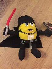 M&M'S YELLOW CHARACTER DARTH VADER STAR WARS PLUSH TOY BRAND NEW WITH TAGS