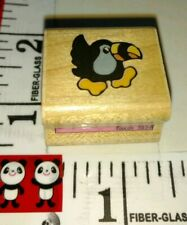 Tiny toucan, rubber stampede, used?,907, wood rubber stamp
