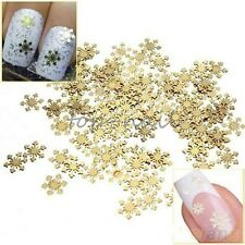 Top Nail 100pcs Nail Art Stickers Alloy Snow Plated 3D Decorations Jewelry JH054