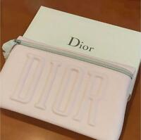 Dior Pouch Light Pink Rectangular Logo with Star Charm New
