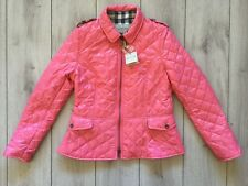 NEW original BURBERRY women Pink Diamond quilted jacket Size XL (US -06 ; IT-42)
